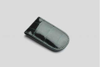 Magnetic crocodile leather money clip