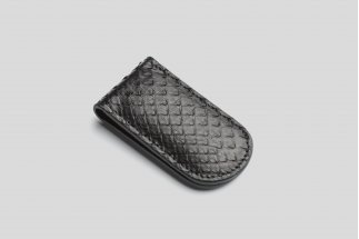 Magnetic python leather money clip