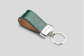 Alligator leather keychain