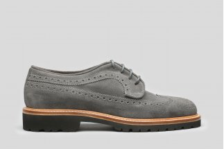 Gray  sude derby brogue
