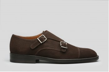 Brown sude double monks