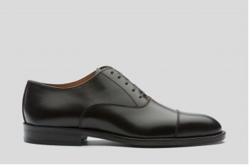 Dark brown cup toe oxford