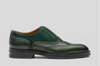Green oxford brogue